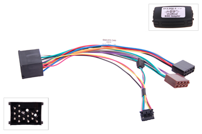 RTA 013.340-0 Steering wheel with steering wheel remote control adapters for vehicles without CAN bus controller