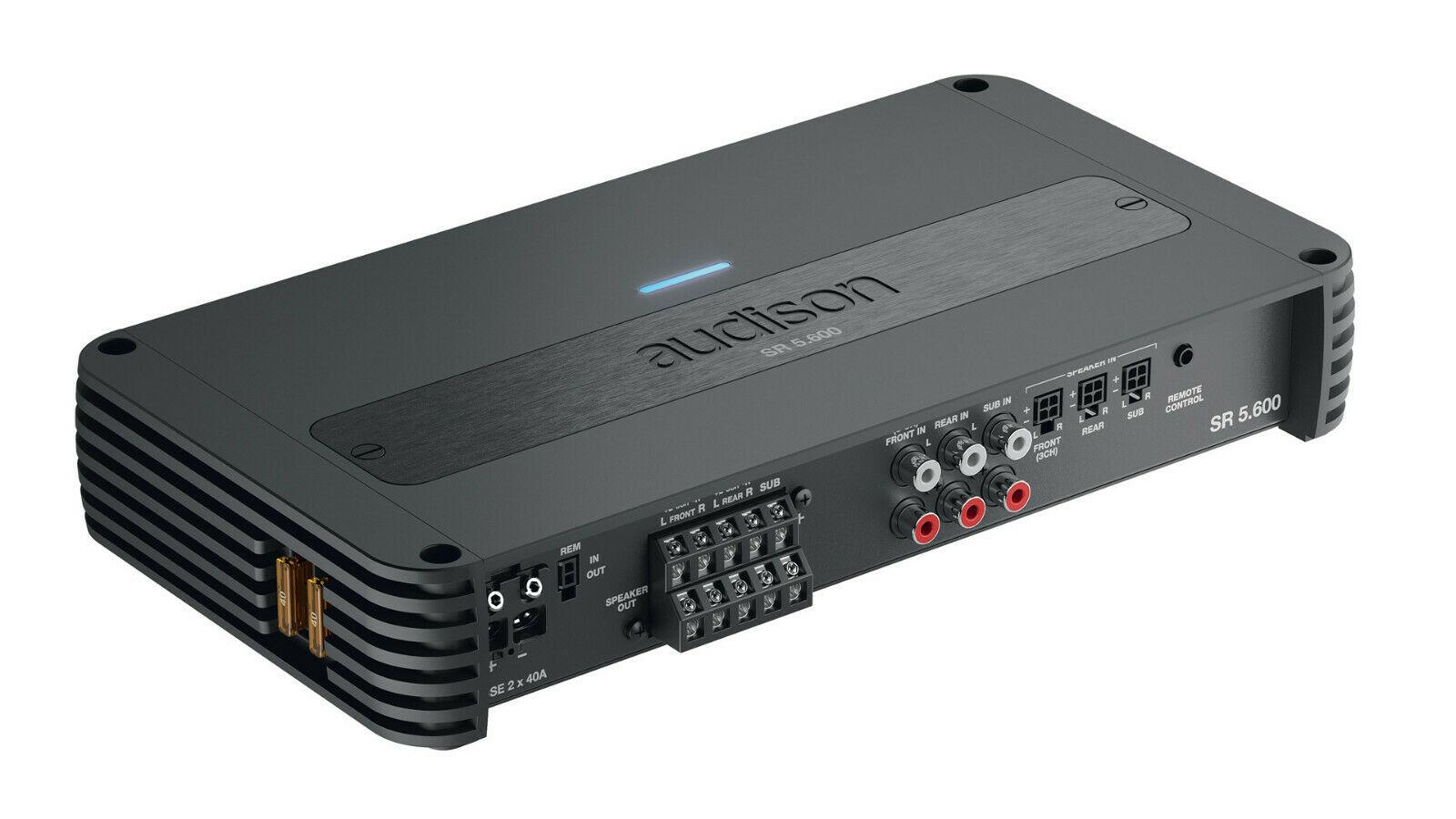 Audison SR 5.600 5-Kanal Verstärker Digital+Analog Endstufe 4x75+1x330 Wrms AMP
