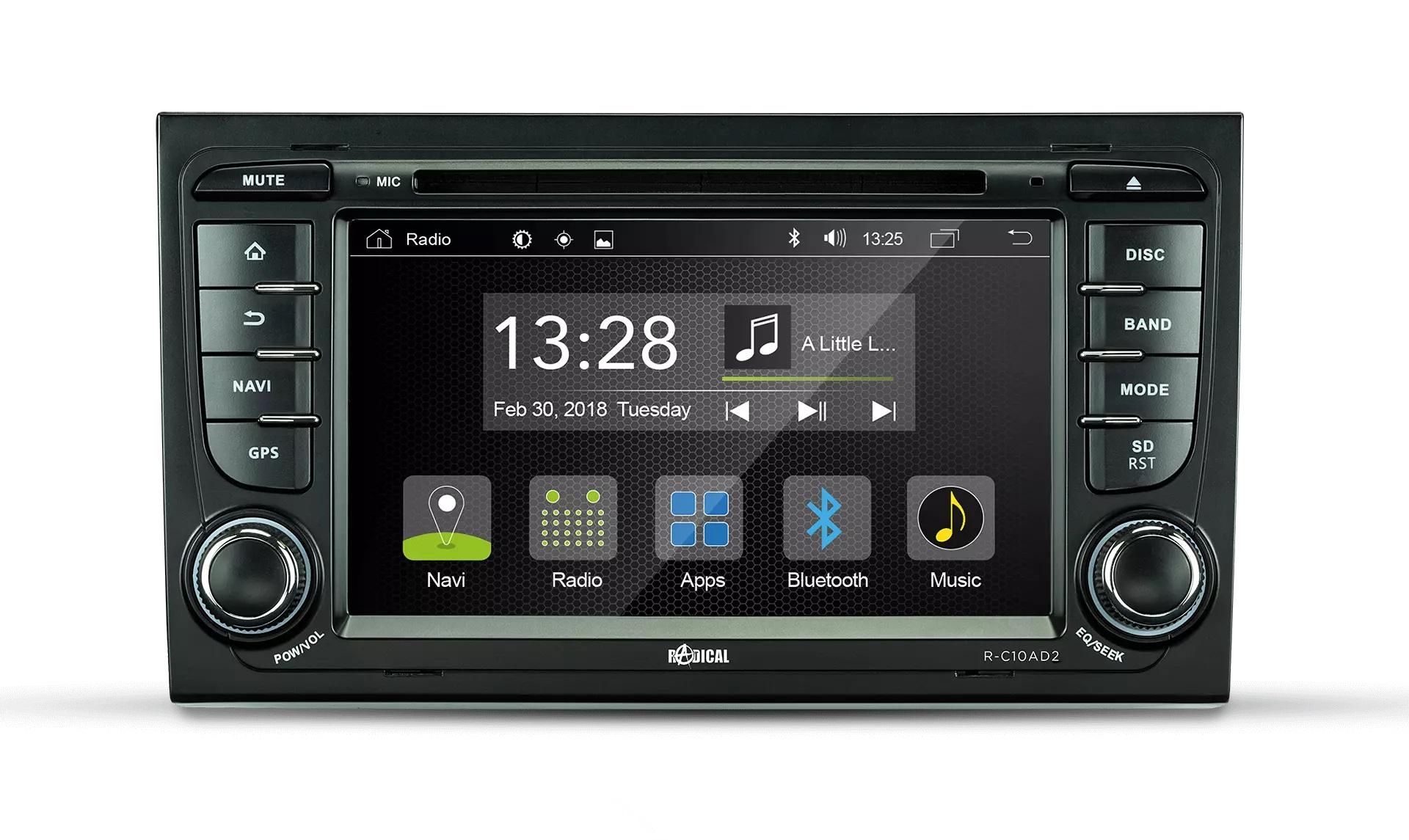RADICAL R-C11AD2 Audi A4 Infotainment Android 9.0 2 DIN utoradio für Audi A4