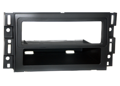 RTA 000.485-0 1 - DIN mounting frame with storage compartment, ABS black