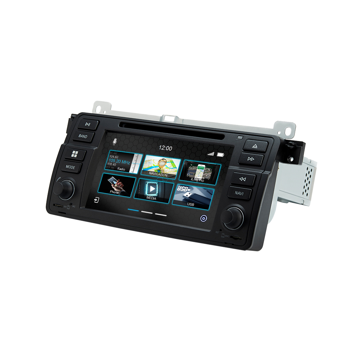 Dynavin DVN-E46 Pro Multimedia Navigation N7 Plattform für BMW 3er (E46) 05/1998 - 02/2007 + Navigationssoftware
