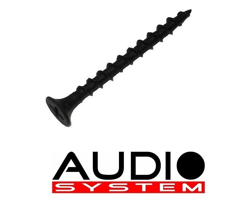 AUDIO SYSTEM SCREW 3,5 x 40 mm Senkkopf-Schrauben in schwarz-eloxiert 100 Stück