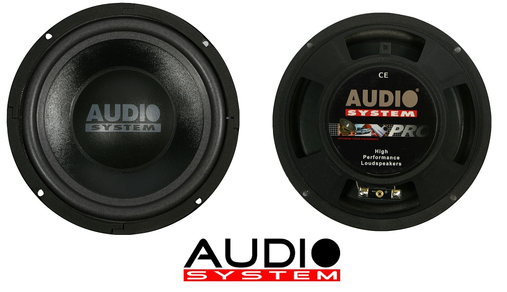 Audio sistema AX 2008 FL 200 millimetri piatto Subwoofer AX08FL
