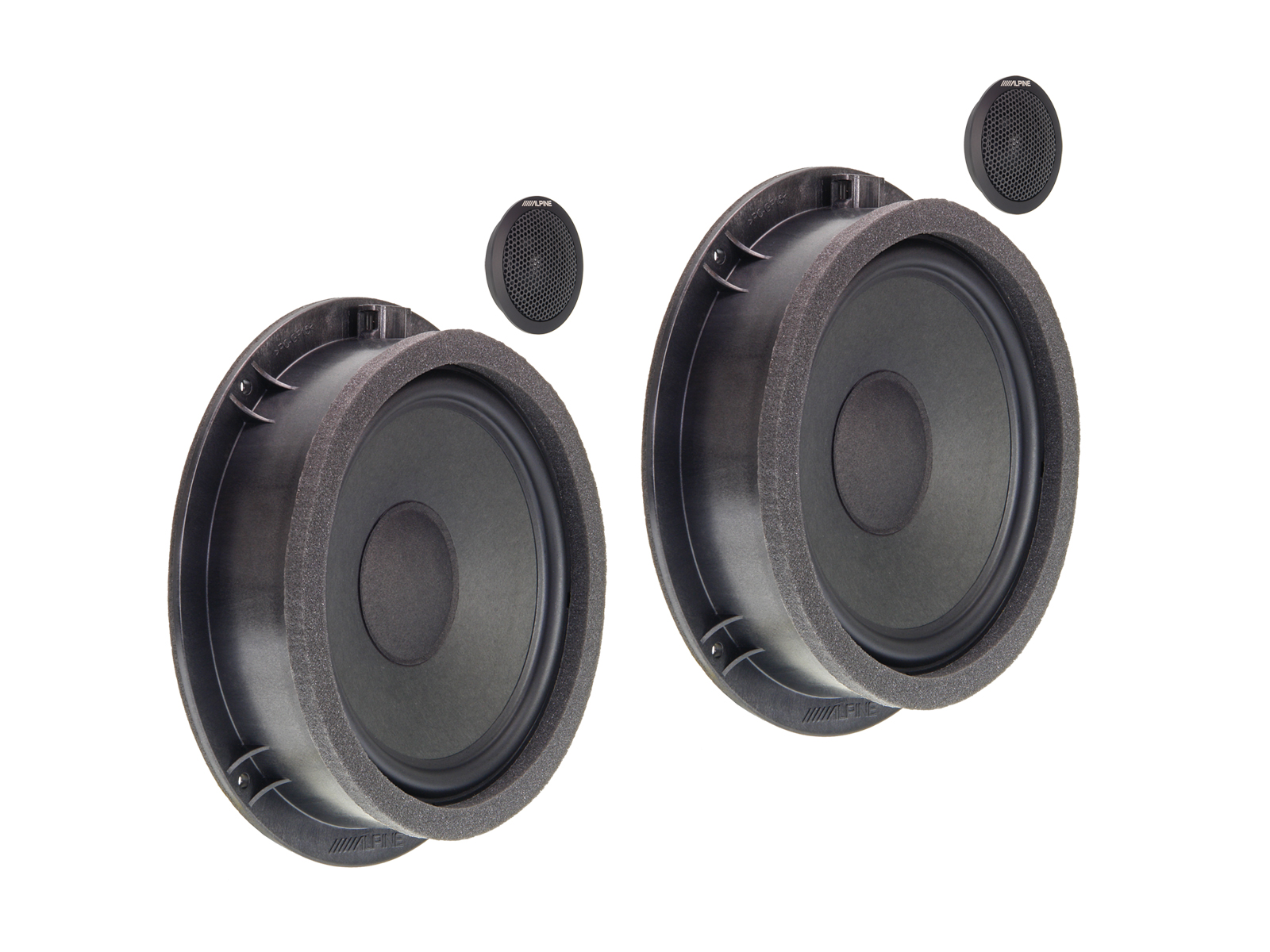 Alpine SPC-100AU Sound-Upgrade Lautsprecher für Audi A4, A5, Q5, S4, RS4, S5, RS5, SQ5