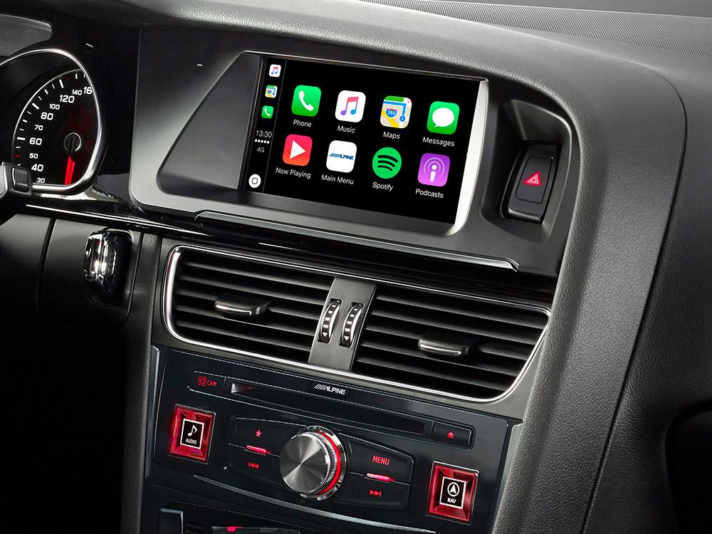 Alpine X703D-A5 7-Zoll Premium-Infotainment-System für Audi A5 mit Navigationssystem, Apple CarPlay und Android Auto Unterstützung