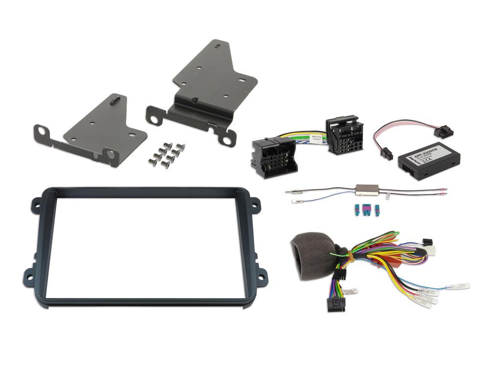 Alpine KIT-8VWTX300 Einbauset für X802D-U (VW/Seat/Skoda-Plattform mit MIB-PQ- oder Golf 6-Radio)
