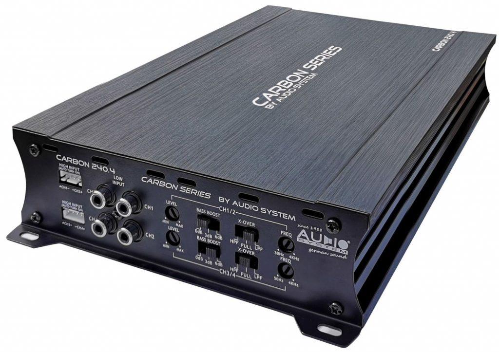 Audio System CARBON 240.4 - 4 Kanal A/B Verstärker 400 Watt RMS CARBON-SERIES