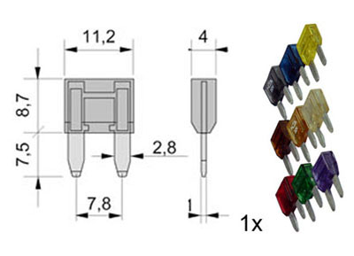 RTA 154.050-0 Sortiment Flachstecksicherung Mini 9-teilig