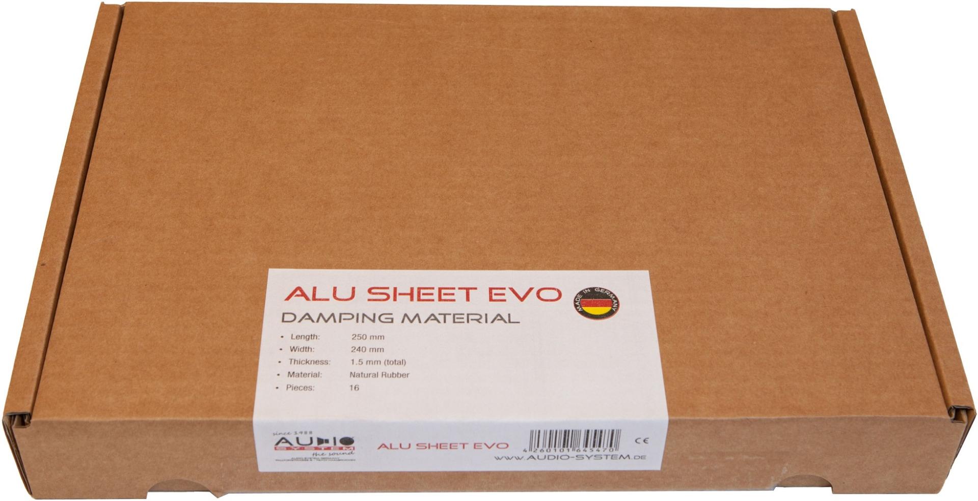 Audio System  ALU SHEET EVO 16 Stück 25cm x 25 cm (0,96m²)