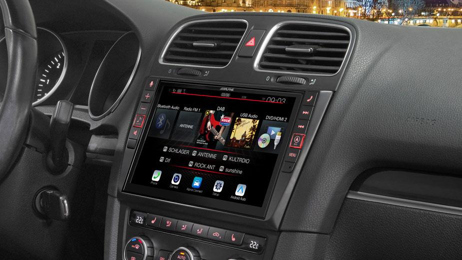 Alpine i902D-G6 9-Zoll Premium-Mobile-Media-System für Volkswagen Golf 6 mit Apple CarPlay und Android Auto Unterstützung