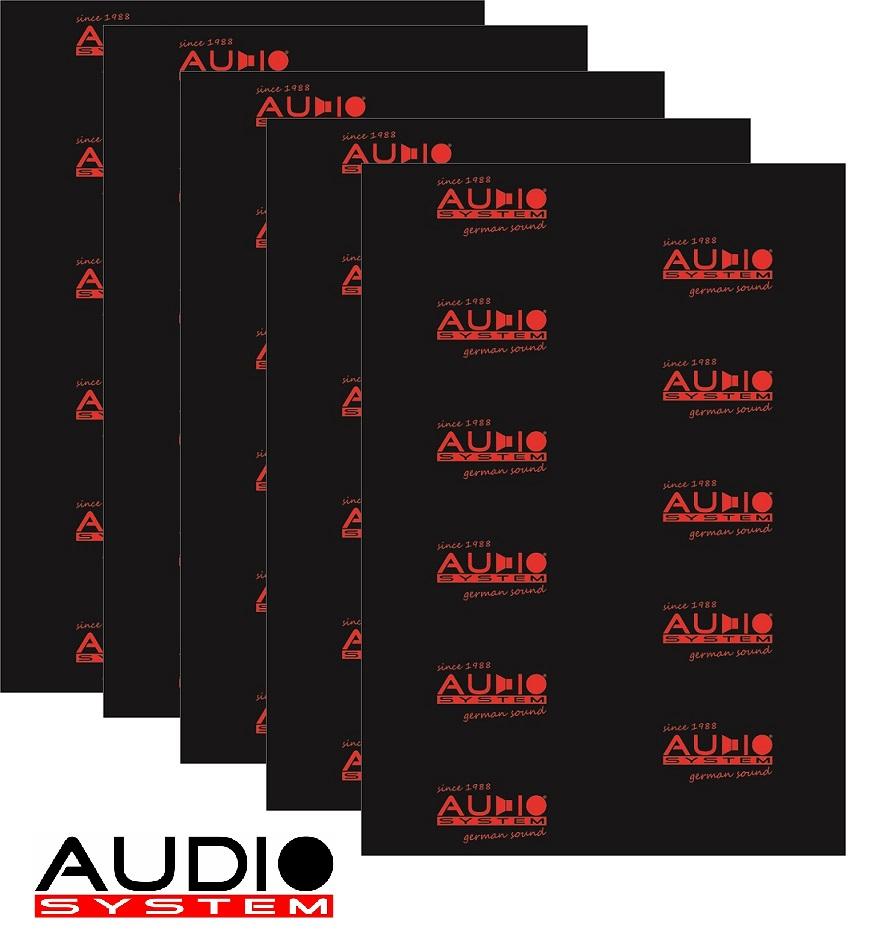 AUDIO SYSTEM ALUBUTYL 2000 EVO ALUBUTYL Dämmaterial mit starker Aluschicht - 5 Stück