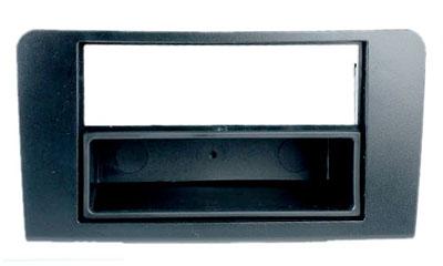 RTA 001.065-0 2 - DIN mounting frame, Black ABS