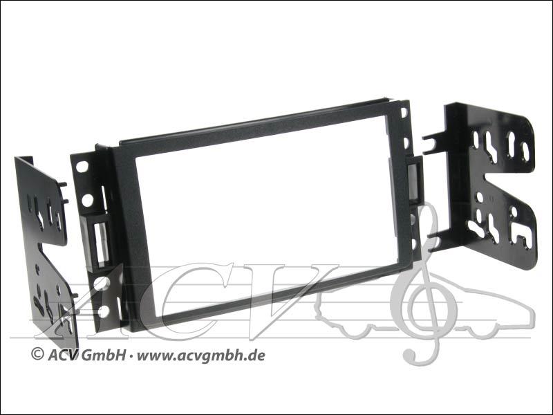 Double-DIN kit di installazione Chevrolet Corvette / Uplander, Hummer H3