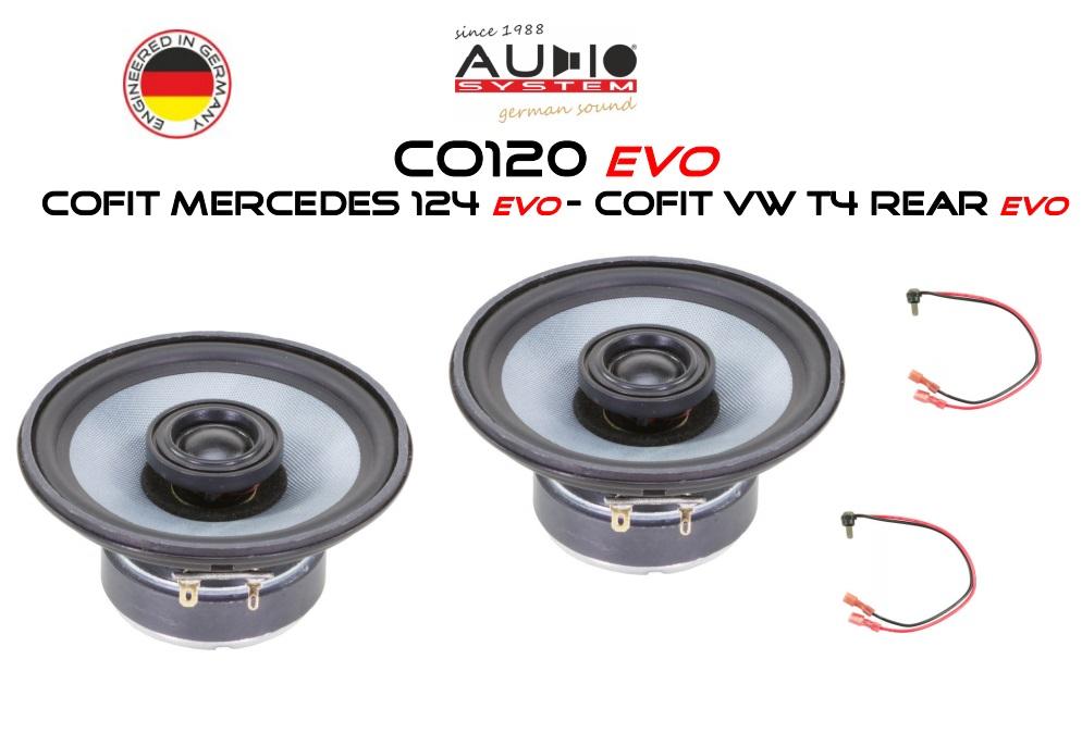 AUDIO SYSTEM COFIT MERCEDES W124 EVO 80W PERFECT FIT COAXIAL SYSTEM Lautsprecher für MERCEDES W124 1984->