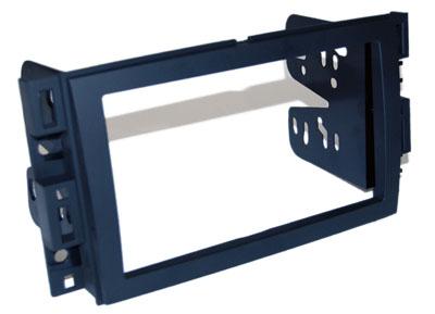 RTA 002.485-0 Doppel DIN Einbaurahmen ABS schwarz BUICK, CHEVROLET, GMC, Hummer Fahrzeuge