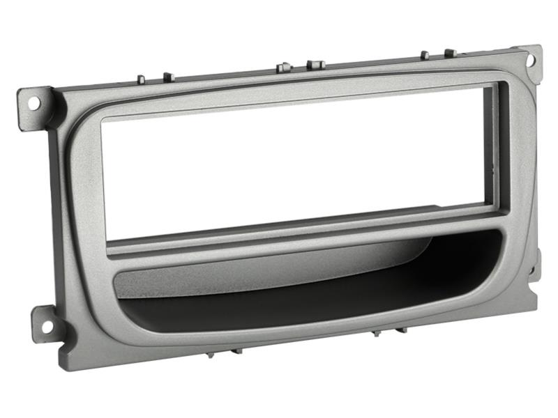 ACV 281114-37 1-DIN facia plate with pocket Ford silver