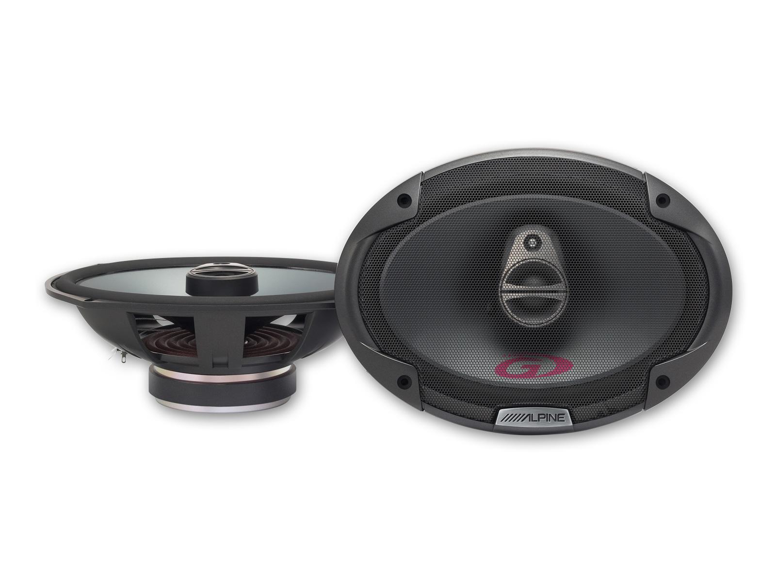 Alpine SPG-69C3 16 cm x 24 cm (6 x 9-Zoll) 3-Wege Koaxiallautsprecher Triaxialsystem 1 Paar Speaker 350 Watt
