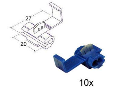 RTA 151.402-0 20mm x 27mm blue wire tap