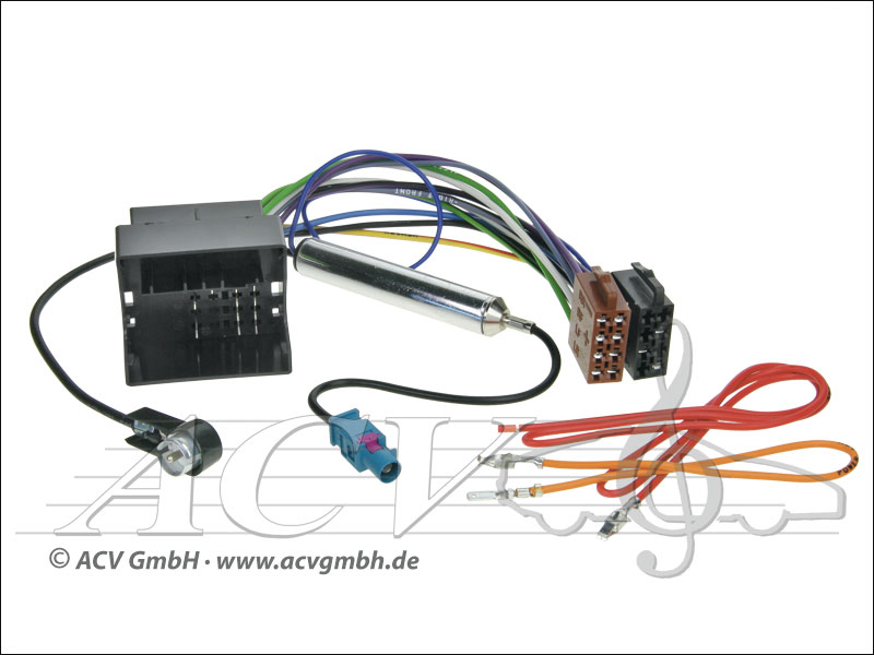 ACV 1324-45 Audi / Seat / Skoda / VW ISO-mit Phantomeinspeisung
