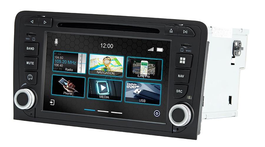 Dynavin N7-A3 Pro Navigation Autoradio Audi A3 8P 2005 – 2012 / Audi A3 Sportback 8PA 2004 – 2012 / Audi A3 Cabriolet 8P7 ab 2008