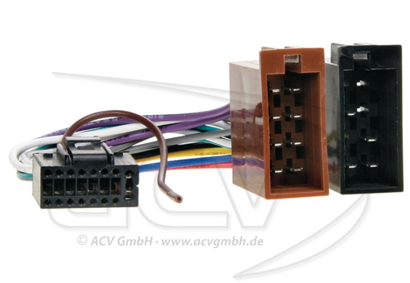 ACV 457001 Radioanschlusskabel Markenradios Kenwood -> ISO 16 polig auf ISO