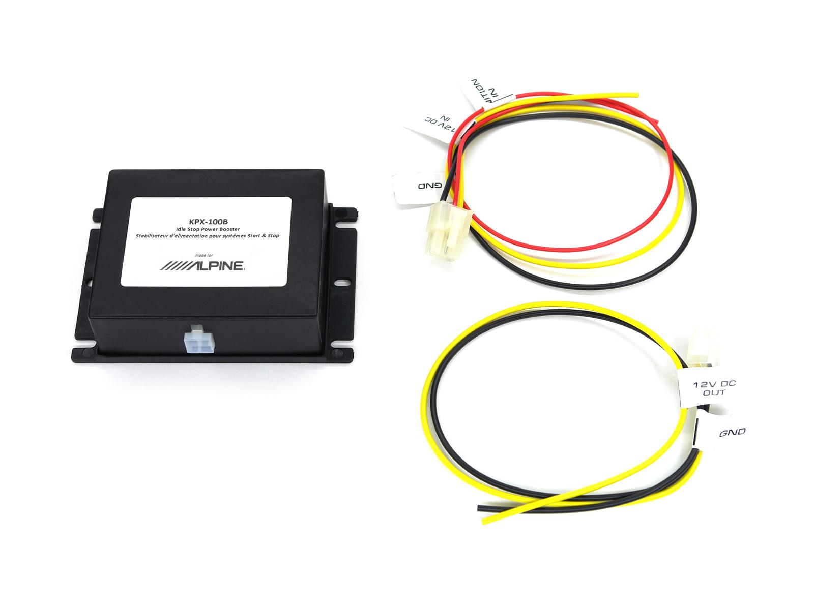 Alpine KPX-100B Start-Stopp-Power Booster Spannungsstabilisator für Fahrzeuge mit Start-Stopp Funktion