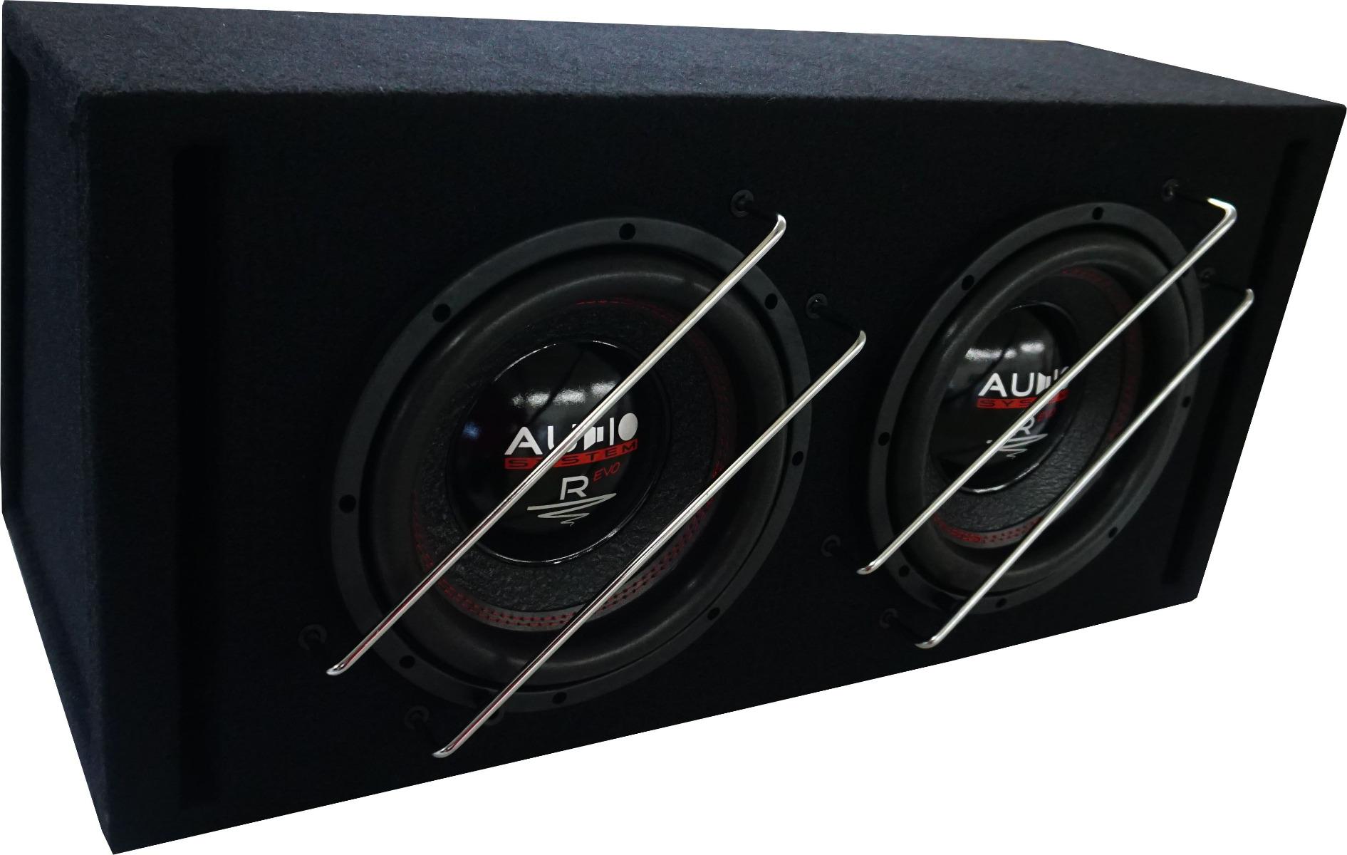 Audio System R 10 EVO BR-2 2x25cm Subwoofer Bassreflexgehäuse 800 Watt RMS RADION SERIES EVO HIGH EFFICIENT