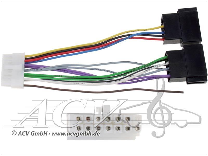 ACV 454 002 Philips Radio cable Radio brand -> ISO