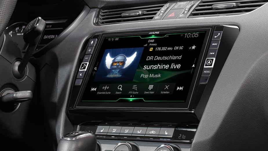 Alpine X903D-OC3 9-Zoll Premium-Infotainment-System für SKODA Octavia 3 mit Navigationssystem, Apple CarPlay und Android Auto Unterstützung