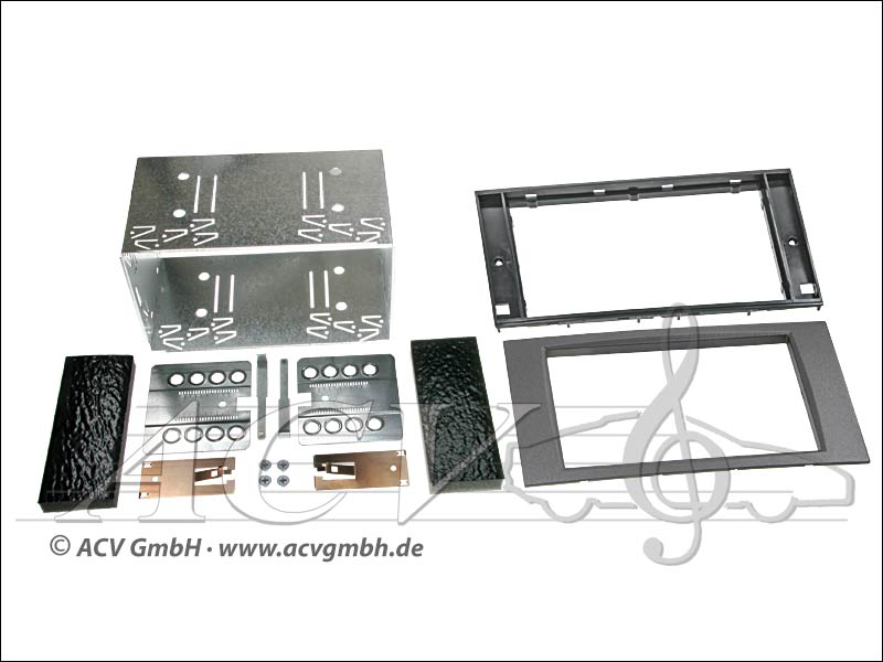 Double-DIN installation kit Ford Rubber Touch 2005 -> anthracite