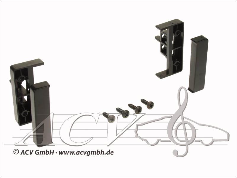 Radio pannello touch gomma Audi A2 / A3 / A4 / A6 nero