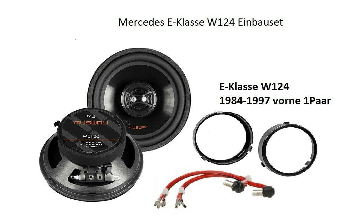 MUSWAY ME-120 Heck Lautsprecher Set für Mercedes E-Klasse W124 1984 - 1997 1 Paar