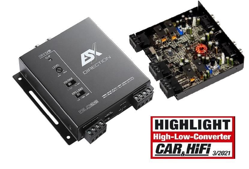 """ESX DLC22 2-Kanal """"High/Low Level"""" Adapter Konverter mit EPS PRO"""