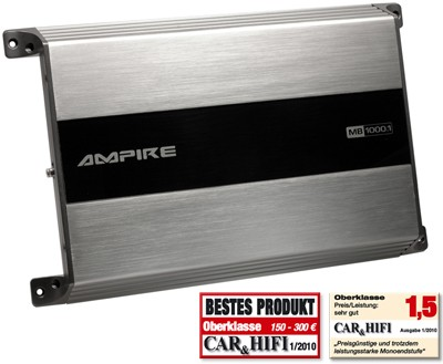 Ampire MB1000.1 Digital Mono Amplifier 1000 Watt 1000.1 MB