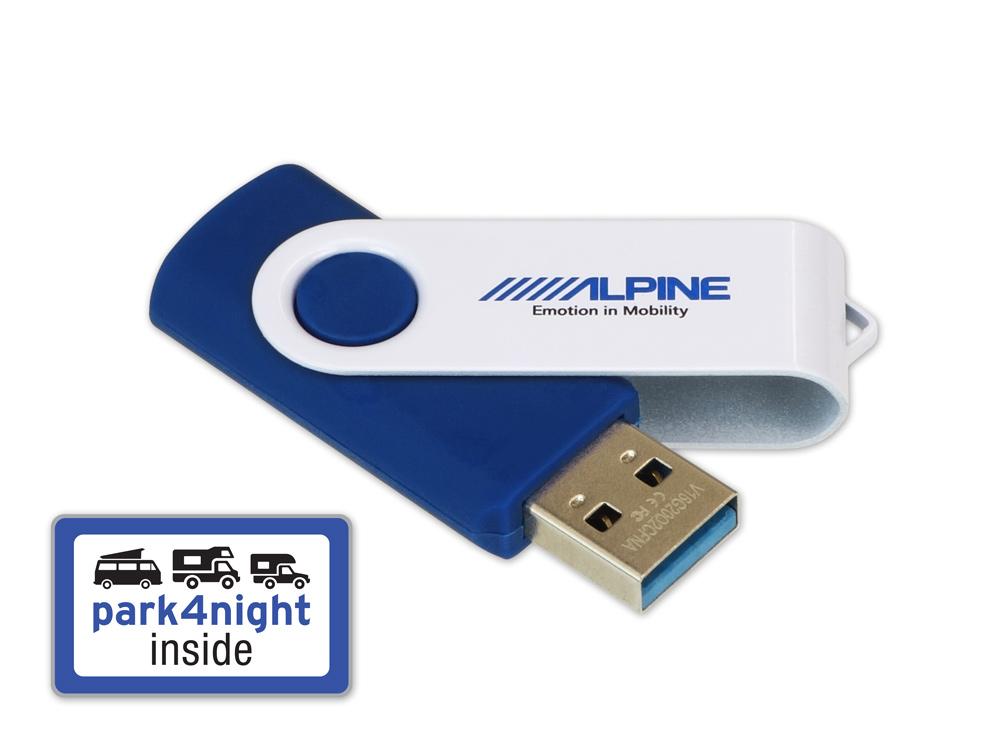Alpine MHS-P4N park4night POI-Datenbank - Stellplatzsuche, Stellplätze