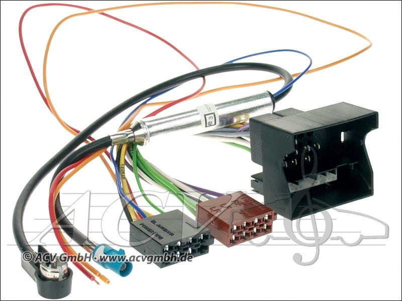 ACV 1230-45 Opel ISO Adaptateur dantenne avec alimentation fantôme