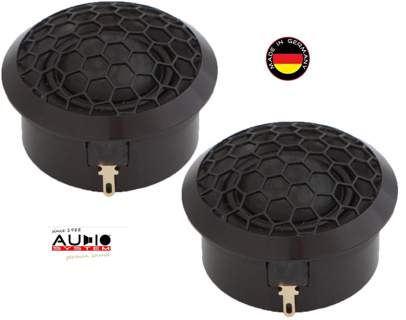 AUDIO SYSTEM AV 26 AVALANCHE-SERIES 26 mm ABSOLUTE HIGH-END Hochtöner mit Neodymantrieb 1 Paar 100 Watt