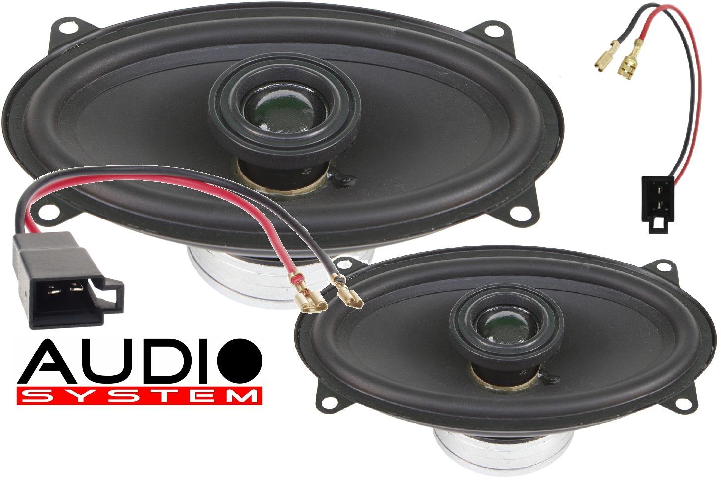 Audio System XCFIT VW GOLF 1 EVO Lautsprecher X-SERIES 4x6 Neodym Spezial Coaxial System Golf 1 Paar