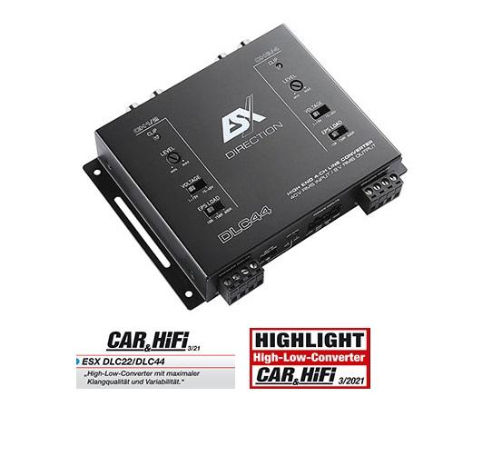 """ESX DLC44 4-Kanal """"High/Low Level"""" Konverter Adapter mit EPS PRO"""