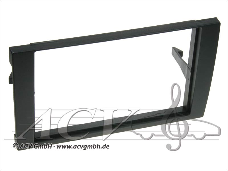 Audi A4 Double DIN radio bezel black