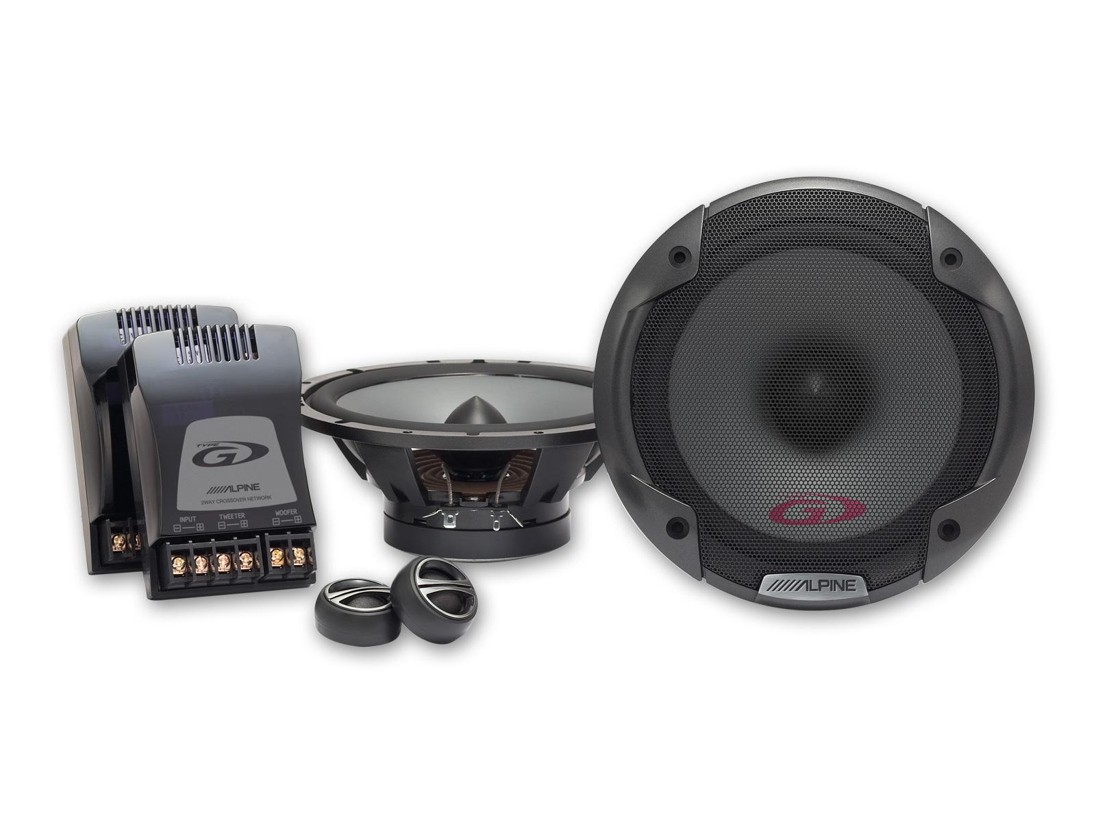 Alpine SPG-17CS 16,5 cm (6,5-Zoll) 2-Wege Lautsprechersystem Komponentensystem 280 Watt