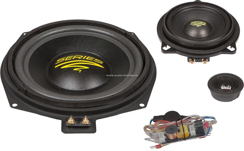Audio System X 200 BMW X-Series 3-way système actif de première partie pour BMW E60, 61,81,82,87,88,90,91,92