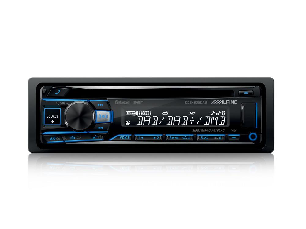 Alpine CDE-205DAB CD-RECEIVER MIT DAB+ / CD / USB UND BLUETOOTH Autoradio Digital Radio mit DAB+, CD-Player, USB-Playback und Smartphone Connectivity
