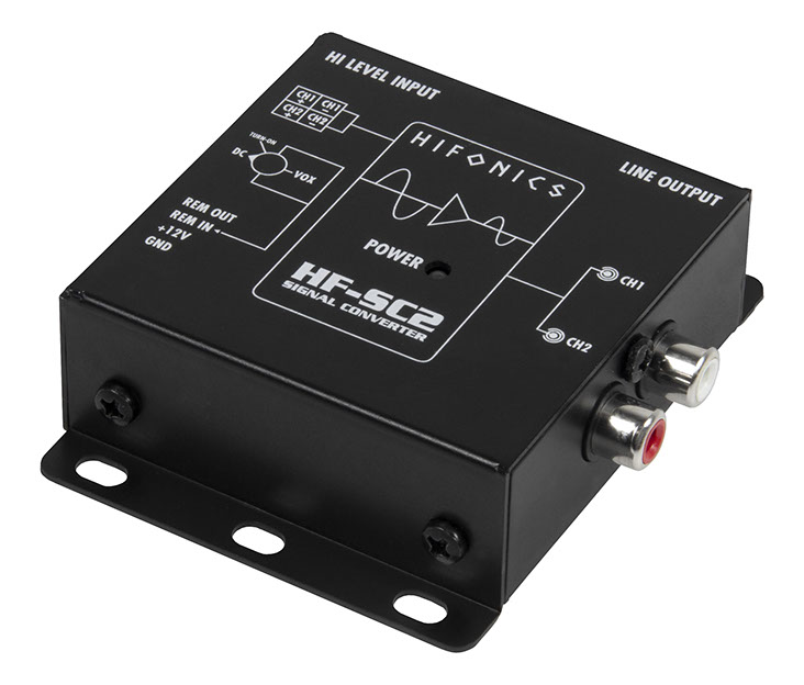 "Hifonics HF-SC2 2-Kanal ""High To Low Level"" Konverter High Low Adapter"