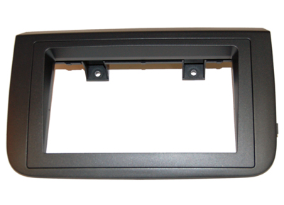 RTA 002.309-0 Double DIN mounting frame 2-piece black ABS