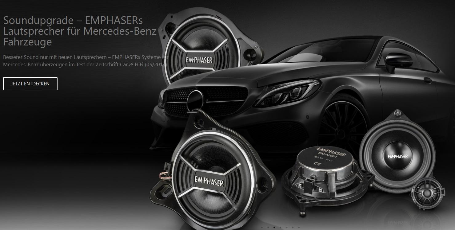 EMPHASER EM-MBF1 Lautsprecher für Mercedes C-Klasse, GLC, E-Klasse, S-Klasse, W205, C205, A205, X253, C253, W213, S213, C238, A238, W222