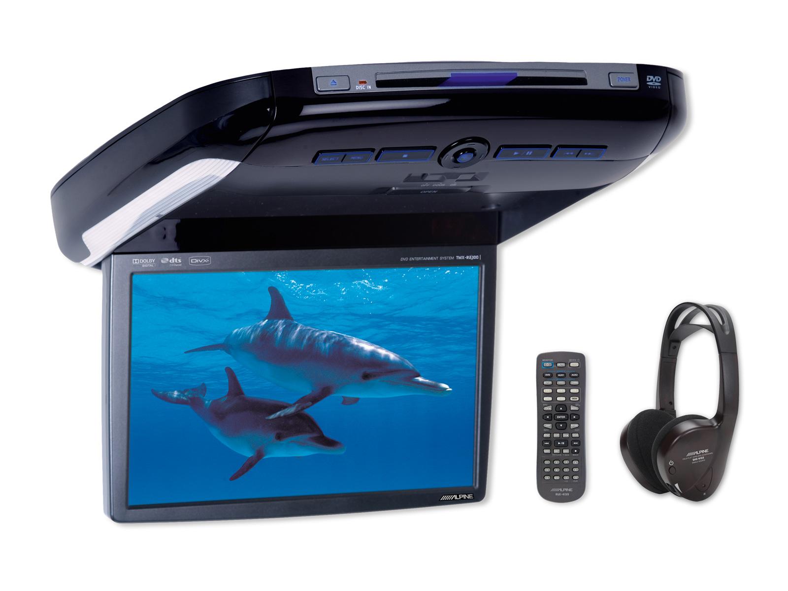 Alpine PKG-2100P 26 cm (10,2-Zoll) WVGA Overhead Monitor mit DVD-Player