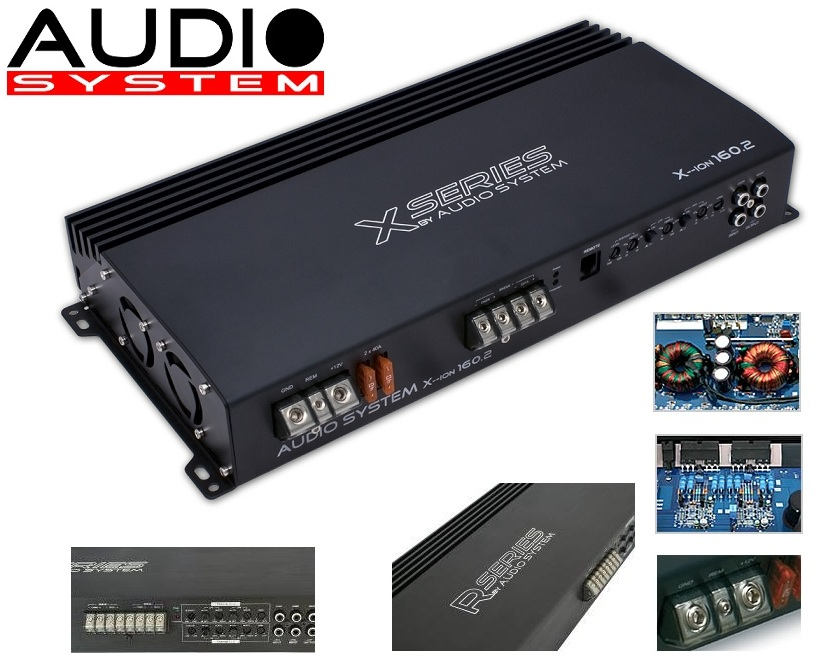 Audio System X-ION 160.2 2-Kanal Verstärker XION 160.2