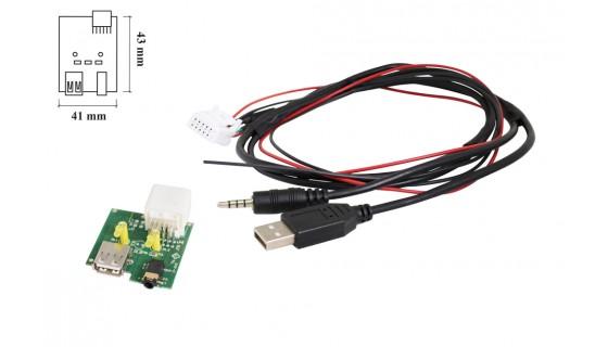 RTA 005.403-0 USB Kabelsatz fahrzeugspezifisch, Kia USB 2.0 + AUX Stecker  L= 68cm