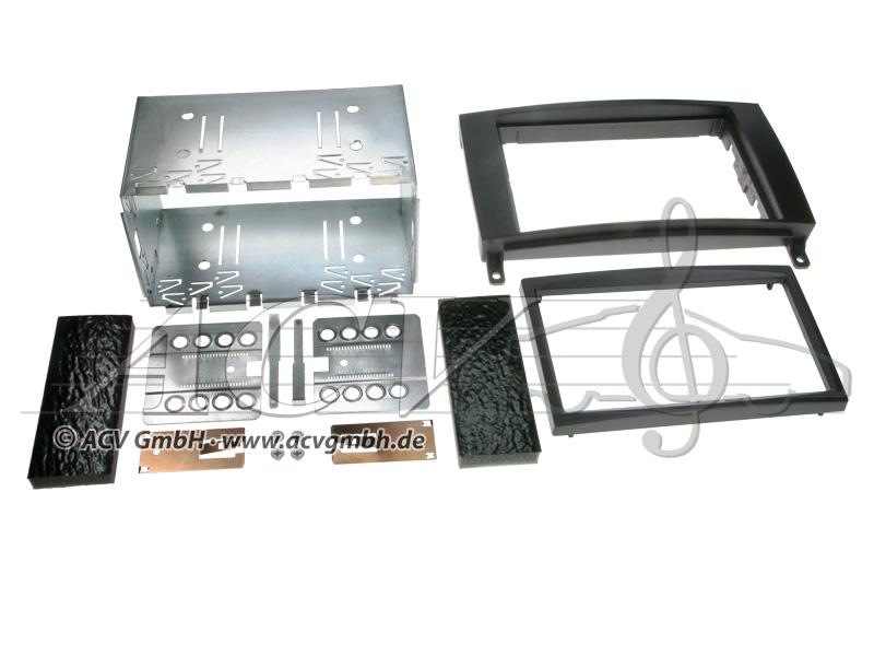 Double-DIN kit di installazione di gomma Touch Mercedes 2005 ->